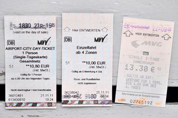 ミュンヘンの切符