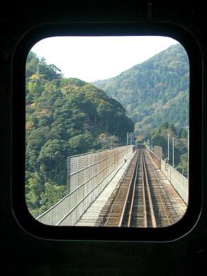 車窓から鉄橋