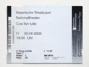 バイエルン国立歌劇場のチケット