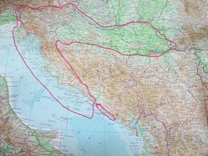 クロアチアの地図?