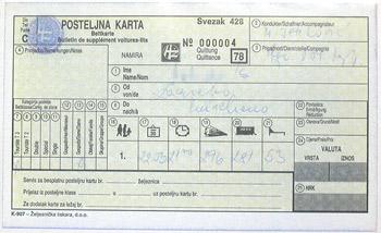 クロアチアの指定席券