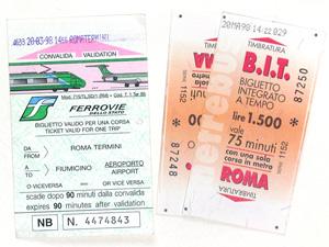 ローマの切符