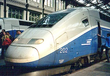 リヨン駅のTGV